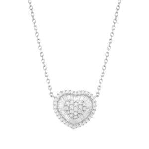 IMG_9285 - BRANCO gargantilha coração em ouro branco com diamantes