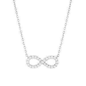 IMG_9287 - BRANCO gargantilha infinito em ouro branco com diamantes