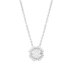 IMG_9295 - BRANCO gargantilha trevo em ouro branco com diamantes