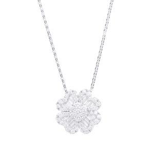 IMG_9300 gargantilha trevo em ouro branco com diamantes