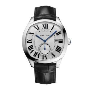 WSNM0004_crop_1038005 Drive de Cartier aço pulseira de couro data small seconds 40x41 mm