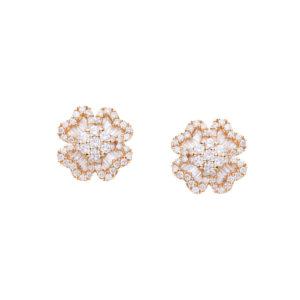 IMG_9640 - brincos trevo em ouro amarelo com diamantes