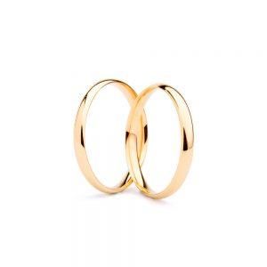 Alianças em ouro amarelo simples